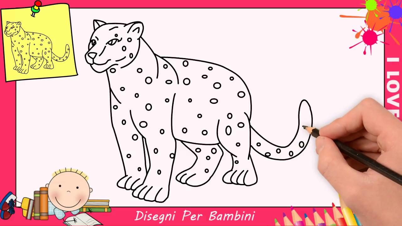 Come Disegnare Un Leopard Giaguaro Facile Passo Per Passo Per