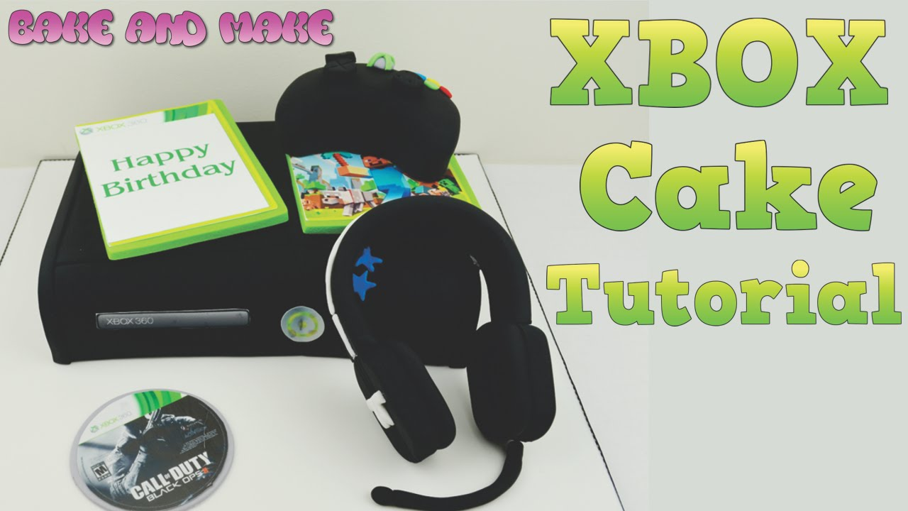 How to make an XBOX 360 Cake Tutorial Bake and Make with Angela