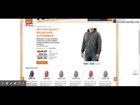 Milwaukee Outerwear 40% Off At Home Depot