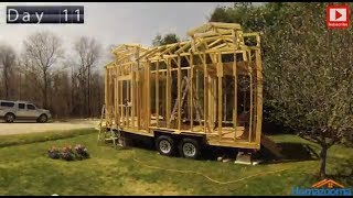 Tiny House Built With Sponsor's Products - Time Lapse