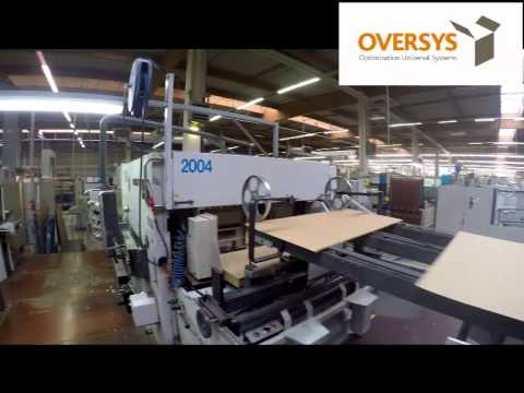 VIDEO OVERSYS U13961214 BOBST SPO 1600 FLAT BED DIE CUTTING LINE WITH 2 PRINT UNITS AND EASY BREAK S