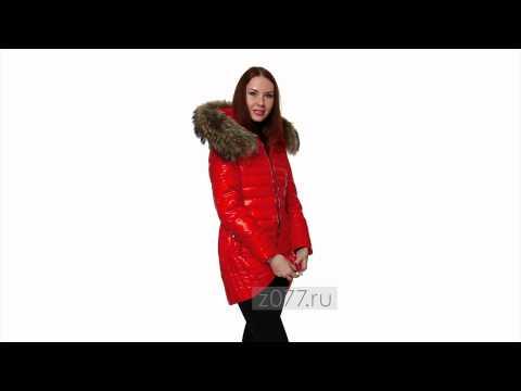Женский пуховик Moncler  450 красный