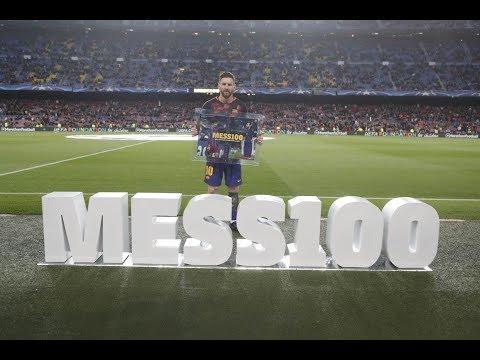BARÇA 4-1 ROMA | Celebrating Messi's 100 UCL goals
