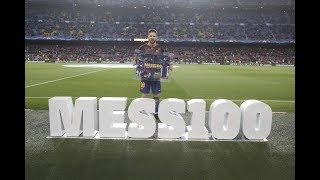 BARÇA 4-1 ROMA   Celebrating Messi's 100 UCL goals