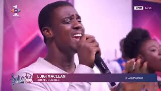 Luigi Maclean performs Travis Greene's Made A way on Saturday Live on Citi TV