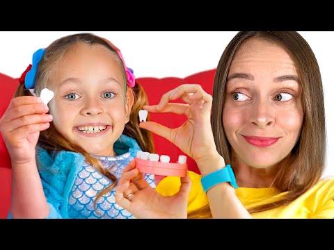 Видео: Зубная фея - Детская песня. Песни для детей от Майи и Маши
