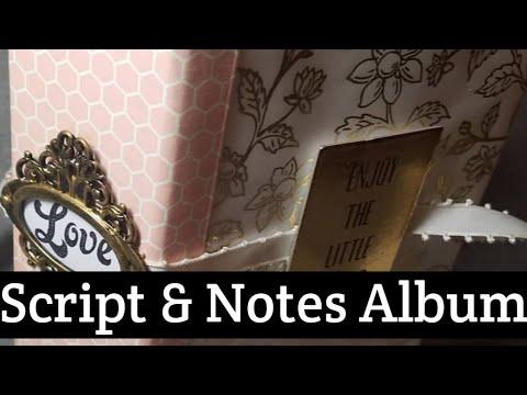 Script and Notes mini album