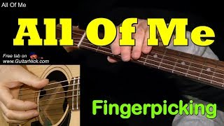 ALL OF ME by Frank Sinatra: Fingerpicking Guitar Lesson + TAB by GuitarNick