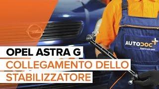 Montaggio Biellette Barra Stabilizzatrice posteriore e anteriore OPEL ASTRA G Hatchback (F48_, F08_): video gratuito