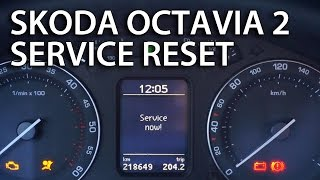 How to reset service reminder indicator in Skoda Octavia MK2 (clear SERVICE NOW! inspection message)