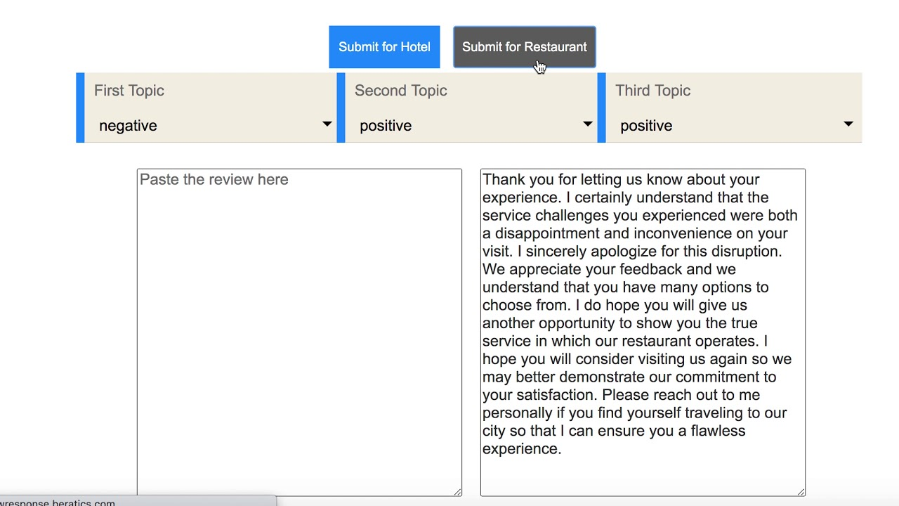 How to respond to star ratings?