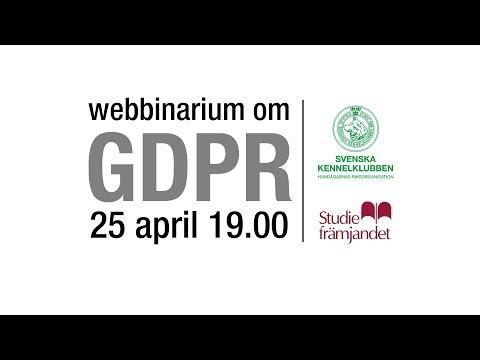 Livesänt webbinarium om GDPR den 25 april