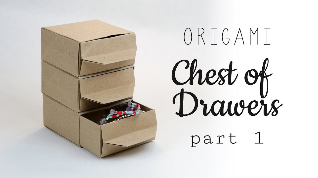Origami Chest Of Drawers Tutorial ♥ Part 1   Shelf   YouTube