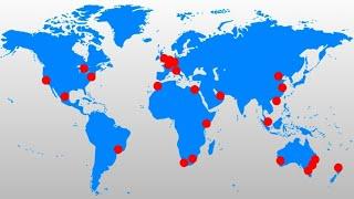As 5 Cidades Mais Importantes de Cada Continente em 2020 | GaWC 2020
