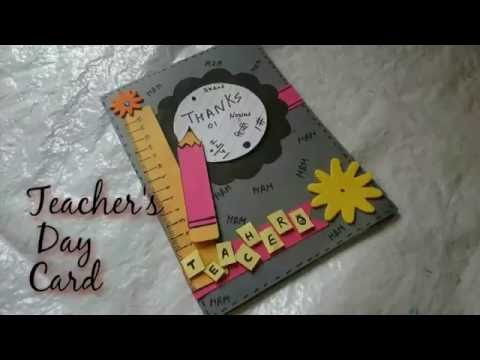 DIY Teacher's Day Card Making Idea | How To |Craftlas