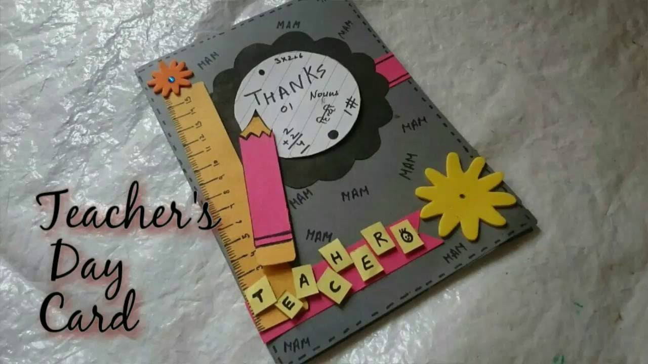 Diy teachers day card making idea how to craftlas youtube bookmarktalkfo Image collections