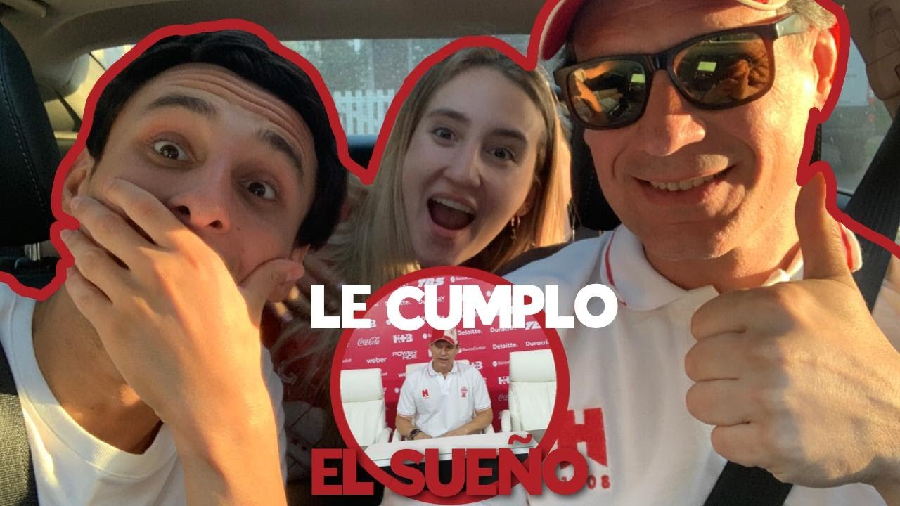 LE CUMPLIMOS EL SUEÑO A PAPA!!!