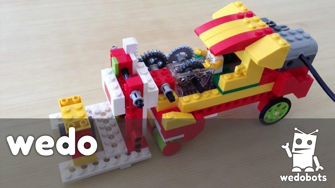 wedobots: Forklift with LEGO® WeDo™ bricks - YouTube