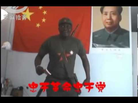blackman singing chinese red songs