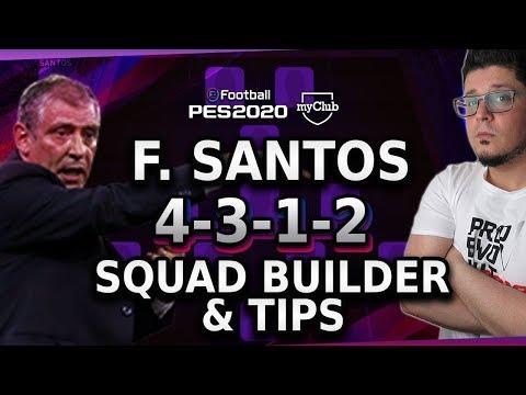 PES 2020 MyClub FERNANDO SANTOS 4-3-1-2 SQUAD BUILDER And Player Card Tips