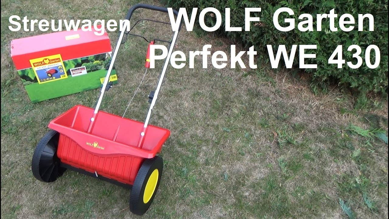 wolf garten streuwagen perfekt we 430 test montage und rasen d ngen im herbst youtube. Black Bedroom Furniture Sets. Home Design Ideas