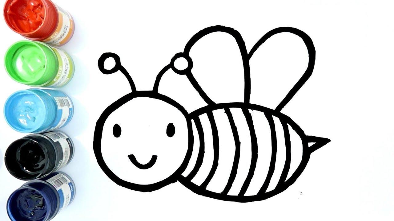 Cara Menggambar Dan Mewarnai Lebah Madu Dengan Cat Air