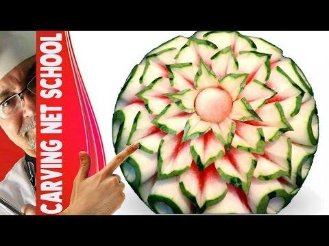 Lesson 18, Carving, การแกะสลักผลไม้, 水果雕刻, Ukiran buah, 果物のカービング, Khắc trái cây, naik ukiran, 조각 장미