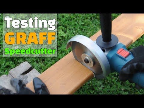 GRAFF Speedcutter Wood Cutting Disc Unboxing and Testing from Aliexpress