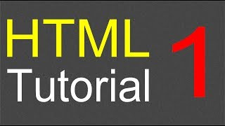 HTML Tutorial for Beginners - 01 - Creating the first web page