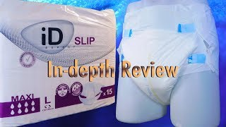 ID Slip Expert Maxi (PE backed)  In-Depth adult diaper review #incontinence