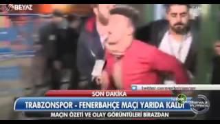 İşte Hakeme Saldıran Trabzonspor Taraftarı