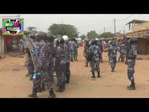 Les transitaires manifestant au port de Lomé sont dispersés par les gendarmes