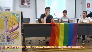 """DIVERSITAT ALACANT  """"La diversidad y la acción sindical""""  ORGULLO 2019"""
