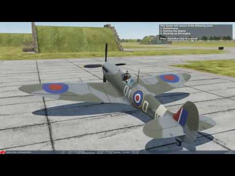 DCS World Spitfire LF MK IX Training Mission 01. Engine Start Procedure  