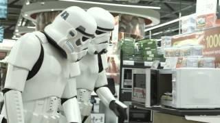 Штурмовики STAR WARS против микроволновки в Мвидео