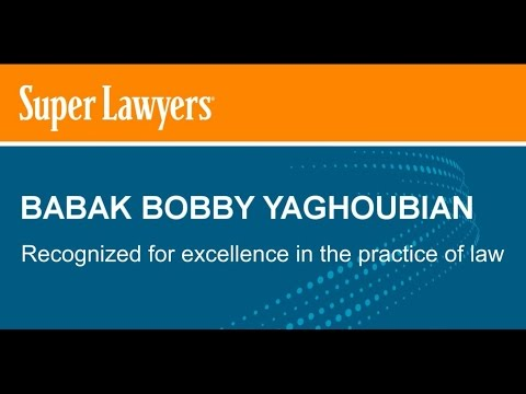 Los Angeles Bicycle Accident Lawyer Bobby Yaghoubian - Rising Star | Super Lawyers 2016
