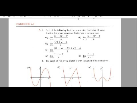 Calculus 30 2.1 Derivatives homework questions help