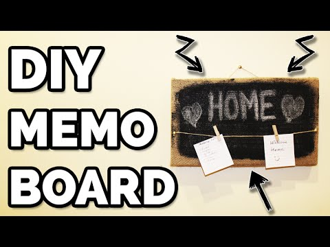 DIY - HOW TO MAKE A MEMO BOARD