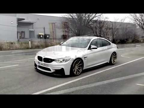BMW M4 ZED Special Performance white with bronze wheels