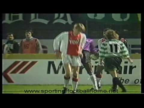 Sporting - 2 x Ajax - 0 de 1989/1990 Final do Torneio Philips Cidade Lisboa (10-01-1990)