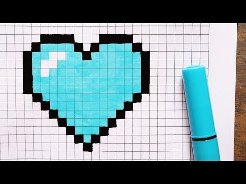 How To Draw A Cute Blue Heart Step By Step Pixel Art