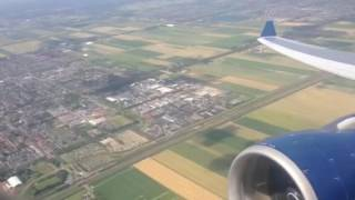 Delta Airlines A330-200 Takeoff and Climb-out from AMS (N854NW)