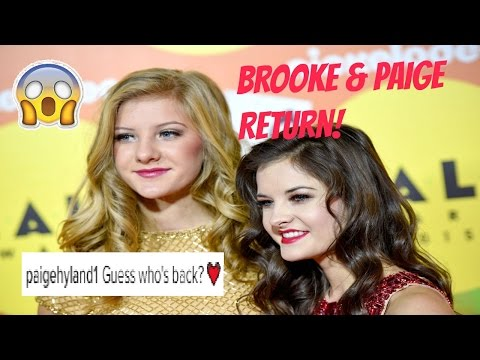 BROOKE & PAIGE OFFICIALLY RETURN TO DANCE MOMS *PROOF*