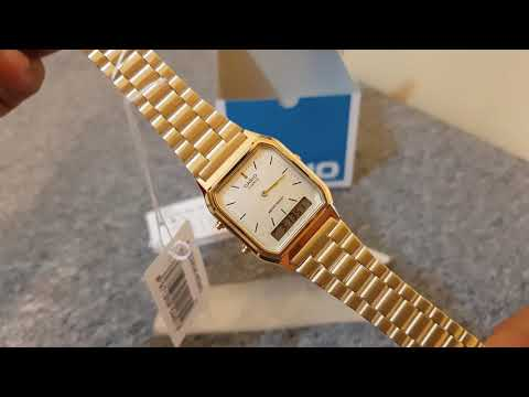 Casio Analog Digital Gold Watch AQ230GA-9D Unboxing Quick Review