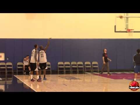 Jamal Crawford & Wesley Johnson getting shots up after LA Clippers practice. HoopJab
