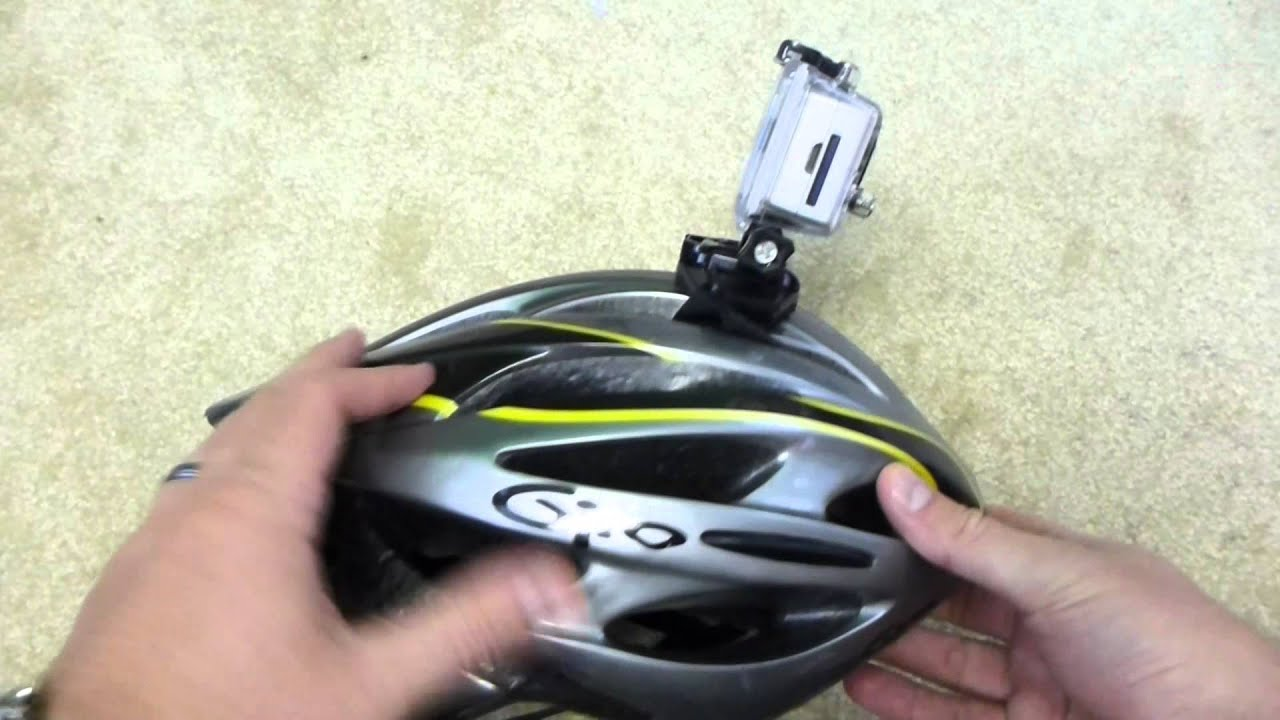 How To Mount A Gopro Camera On A Bicycle Helmet Youtube