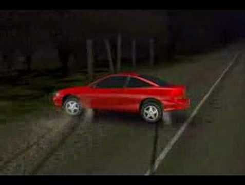 Accident Recreation Chevy Cavalier - YouTube