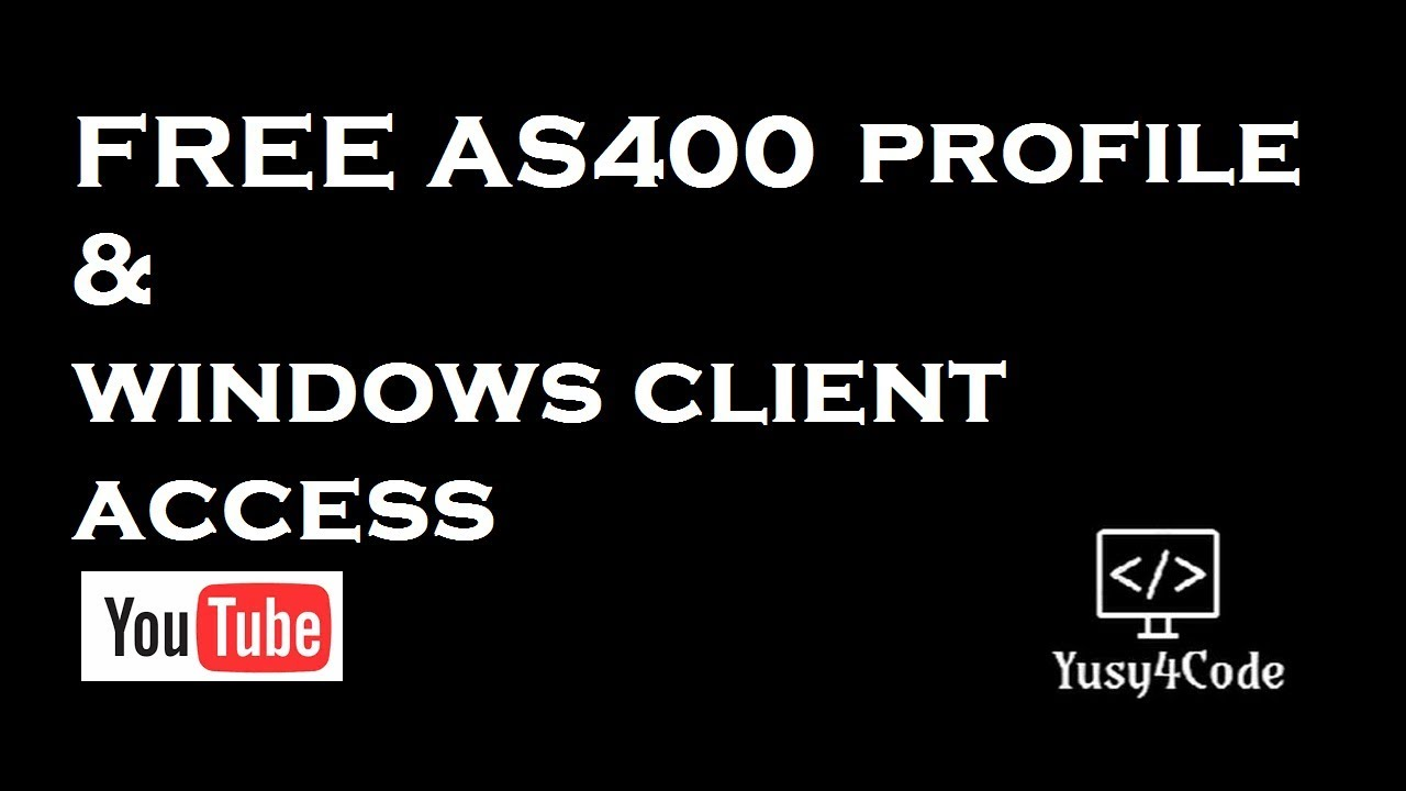 get your free as400 profile windows client access