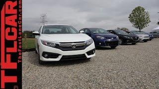 2016 Honda Civic vs Ford Focus vs Mazda3 vs Toyota Corolla vs 2015 Civic Mashup Review