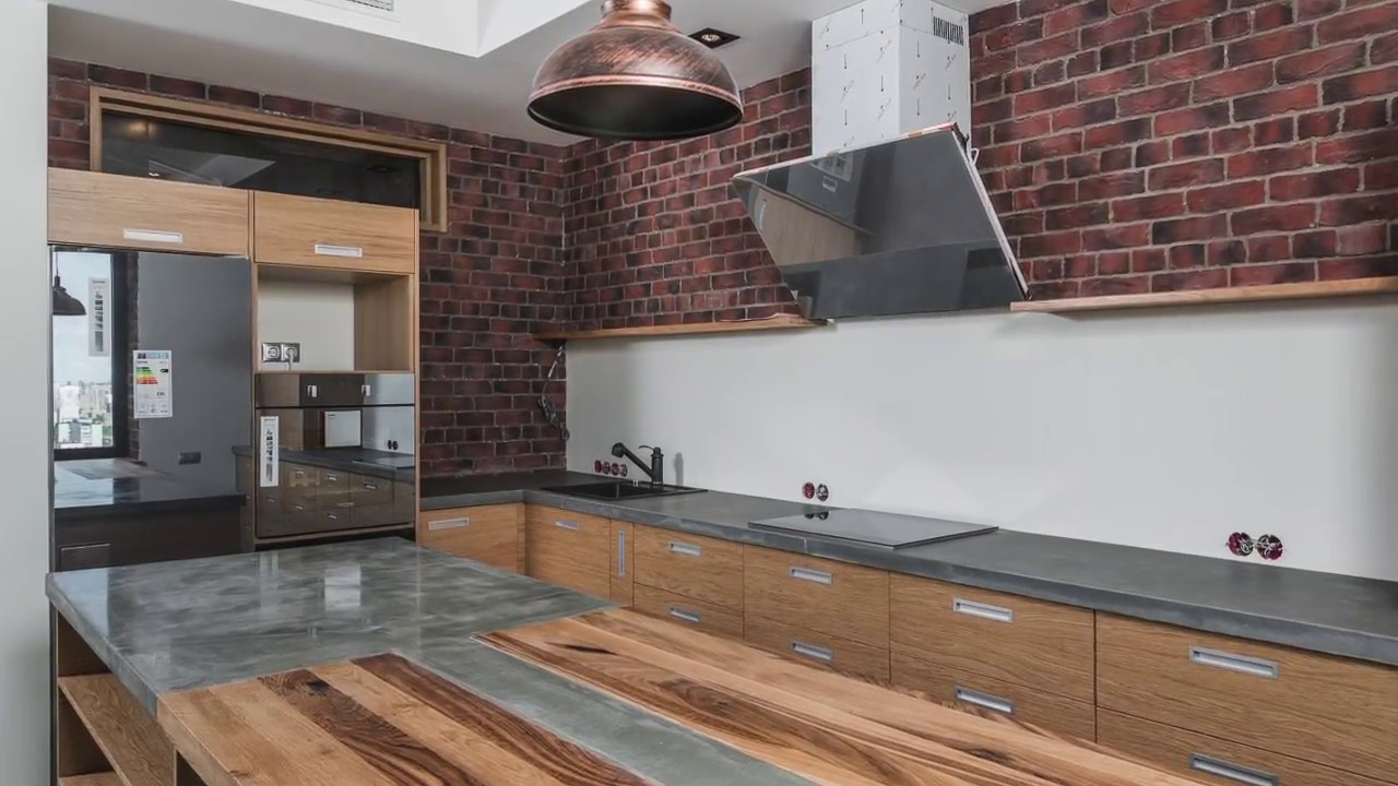 кухня в стиле лофт готовое решение Youtube